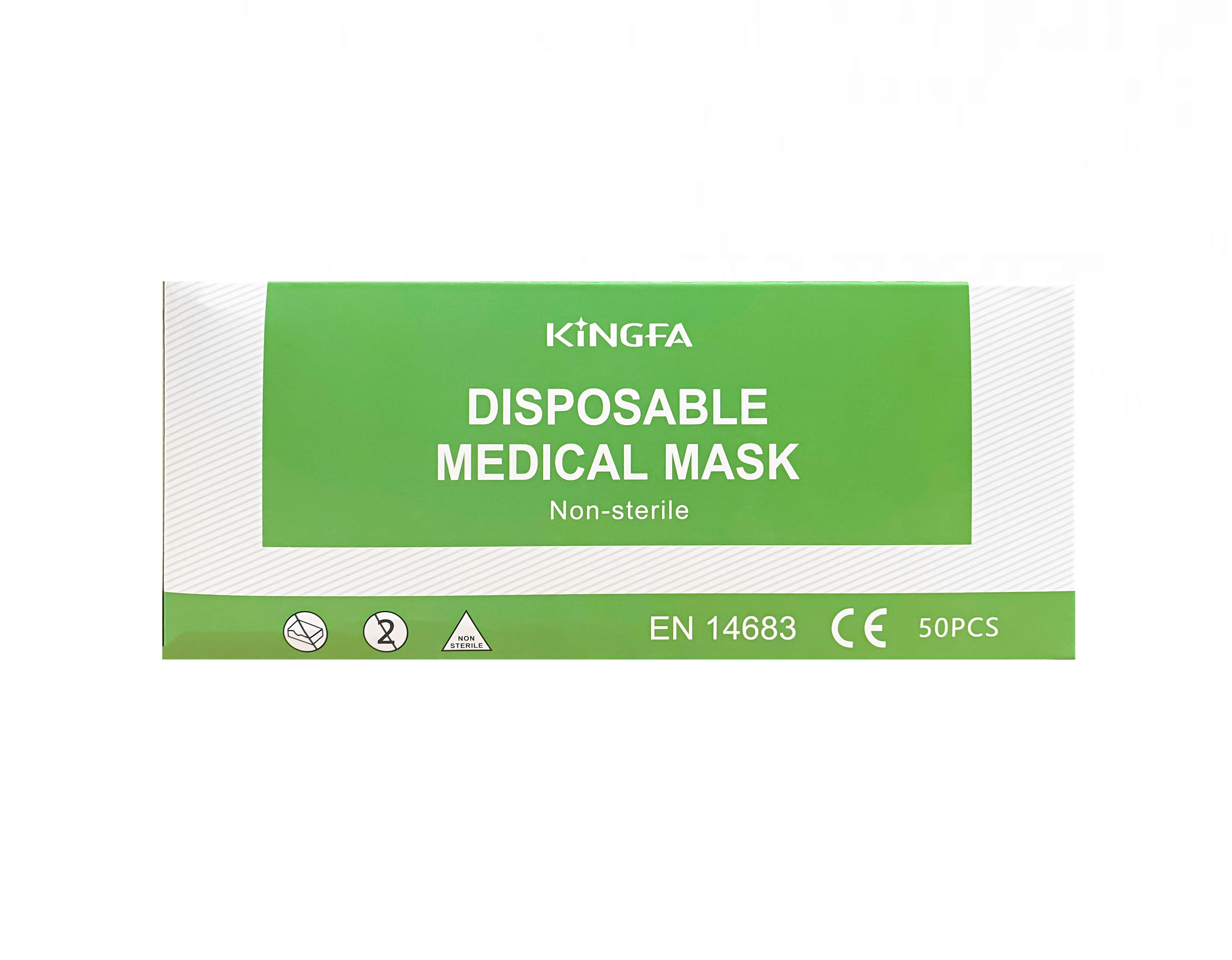 KINGFA Einweg-Mundschutz (TYP IIR) 50 Stück BLAU