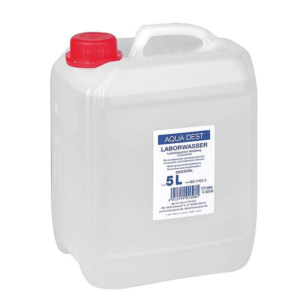 Aqua Dest. Destilliertes Wasser - 5 Liter