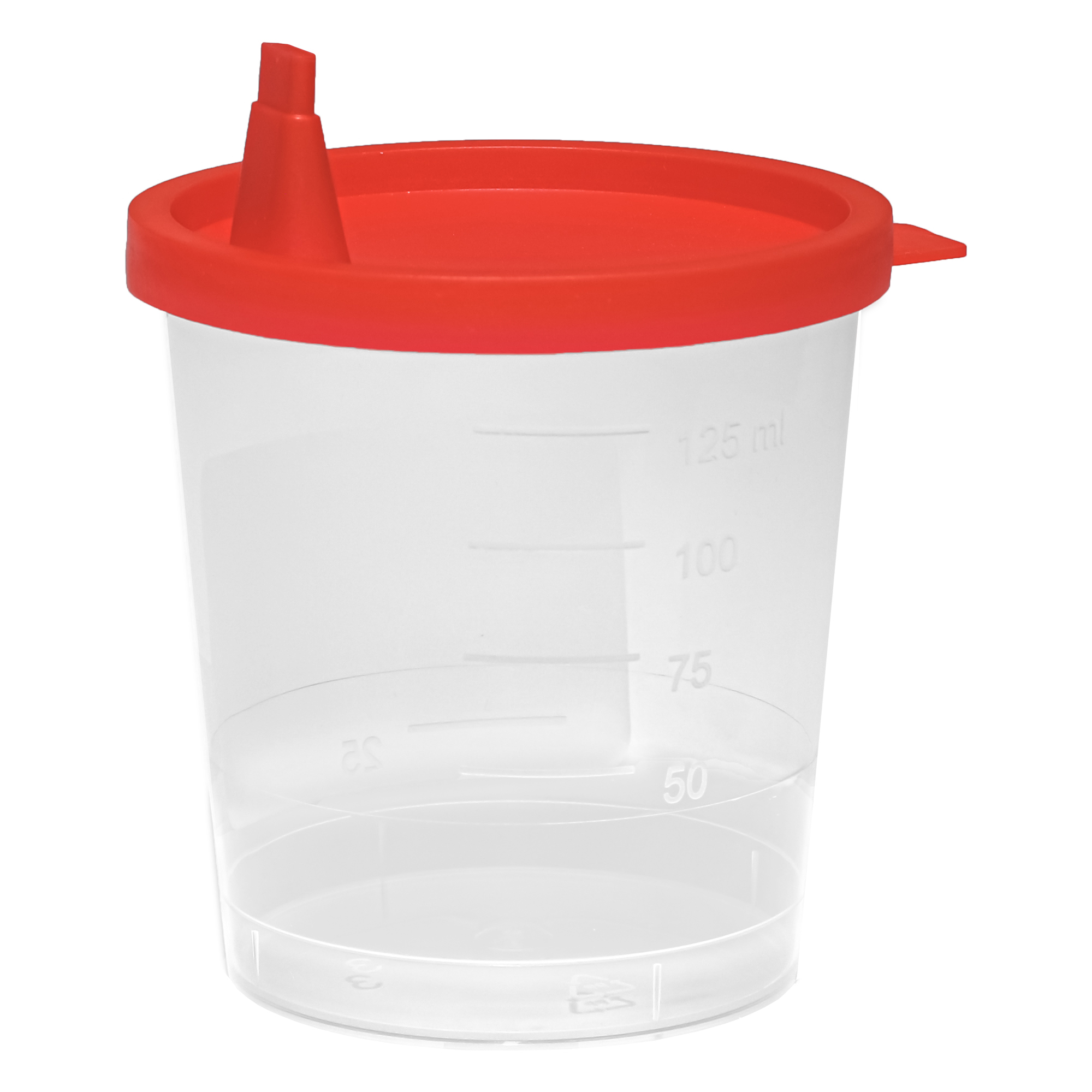 Urinbecher mit Deckel - 125 ml