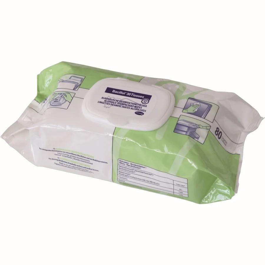 BODE BACILLOL® 30 Tissues Desinfektionstücher (80 Stück)
