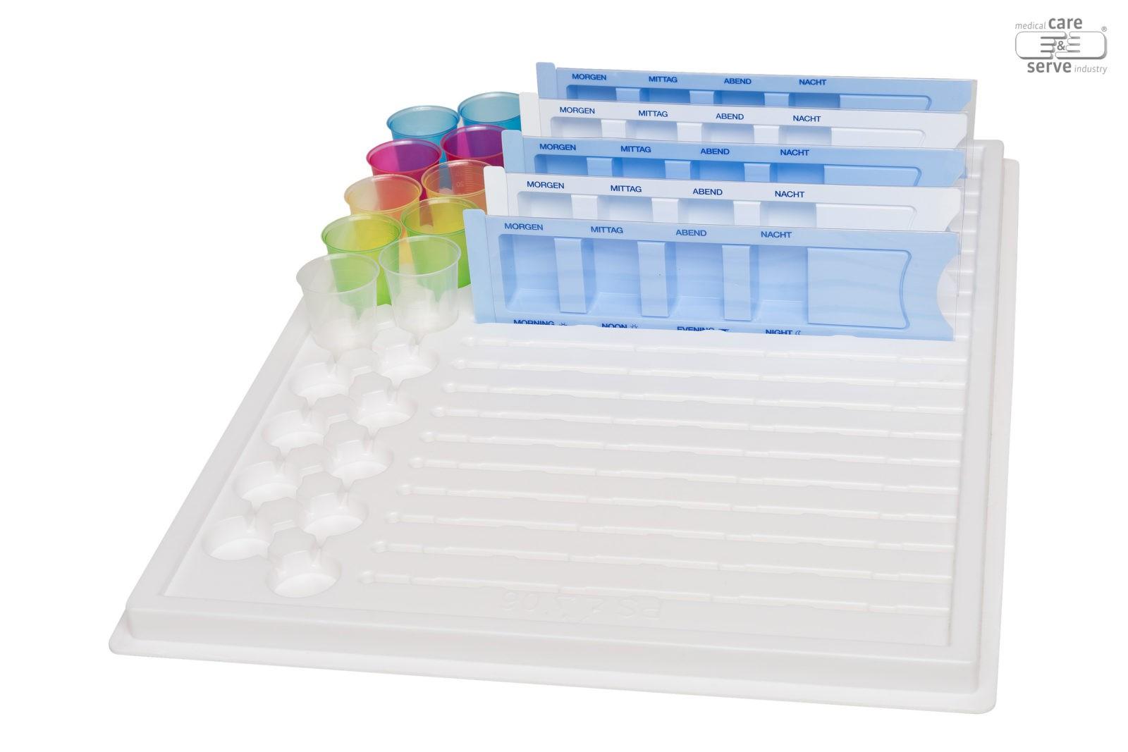 Medikamententablett für Dispenser & Medizinbecher