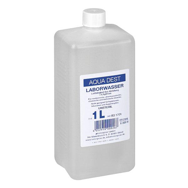 Aqua Dest. Destilliertes Wasser - 1L