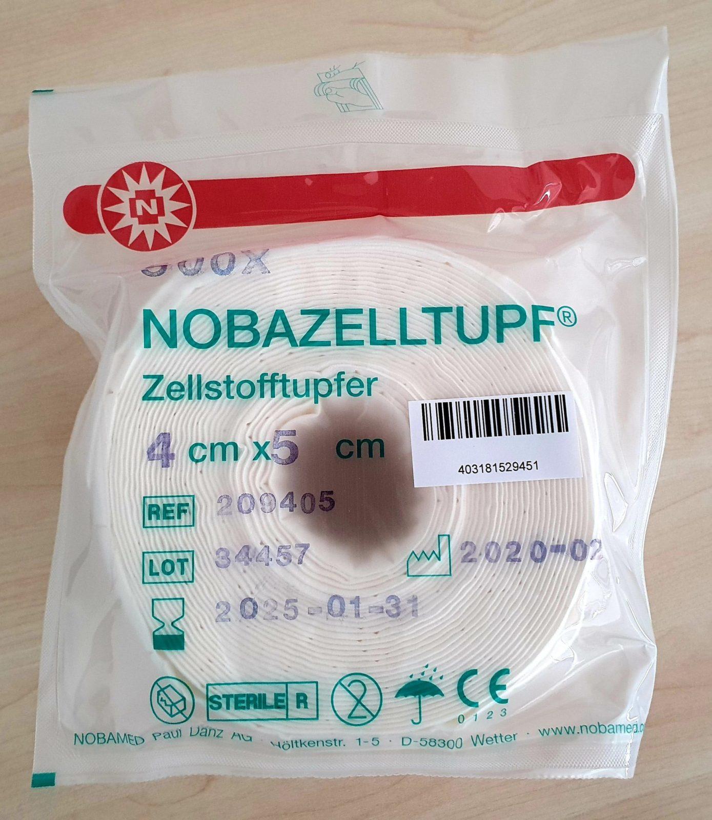 NOBAZELLTUPF® Zellstofftupfer - STERIL