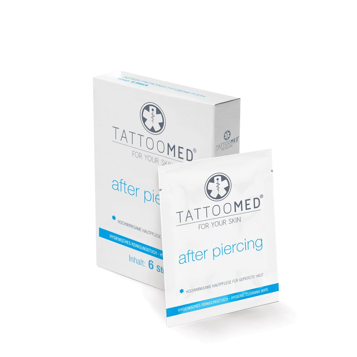 TattooMed® after piercing Hygienetuch (Box 6St.)