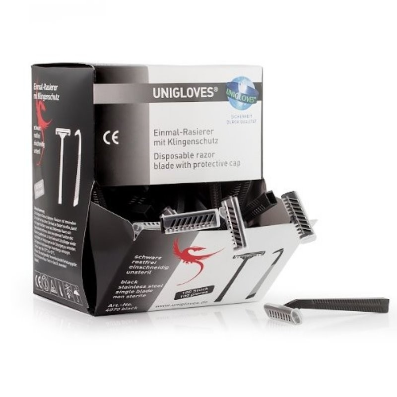 UNIGLOVES® Einmal-Rasierer (Box à 100 Stück)