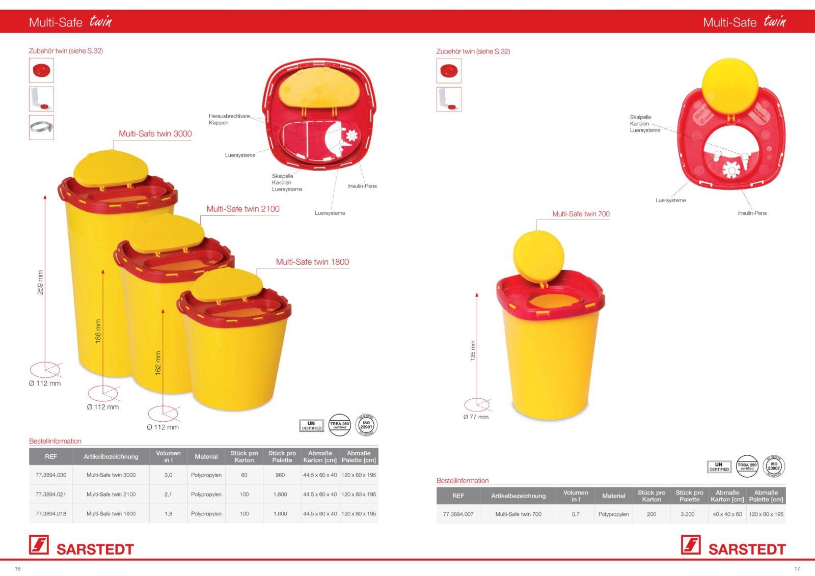 Kanülenabwurfbehälter Multi-Safe
