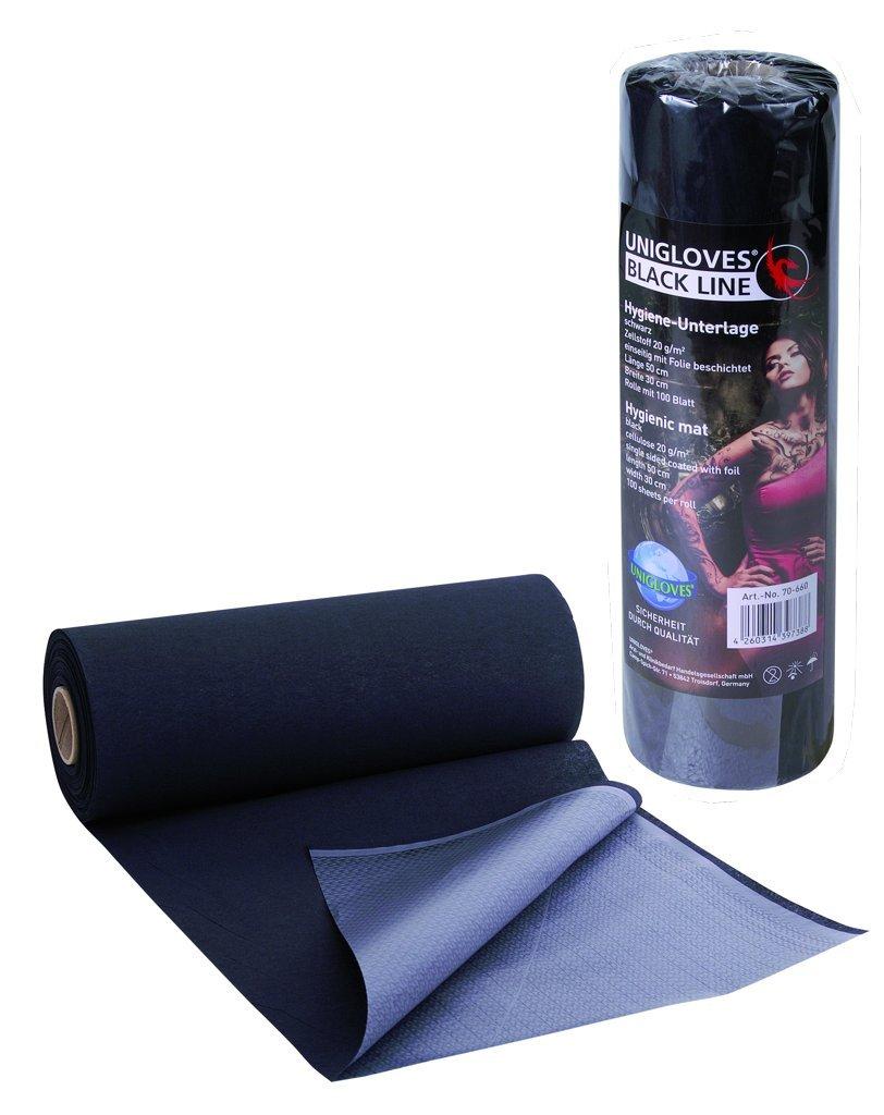 Hygiene Unterlagen schwarz