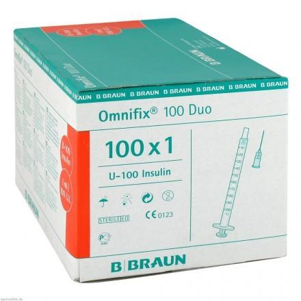 Insulinspritze Omnifix Packung