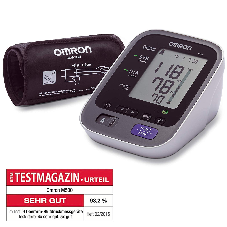 OMRON M500 - Vollautomatisches Oberarm-Blutdruckmessgerät